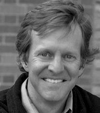 Black and white photo of Kevin Krizek, architecture professor