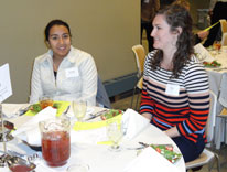 Students gathered for dinner hosted by the Teach for America (TFA) program