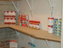 Bare shelves at CU Denver student Food Pantry