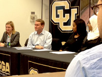 U.S. Senator Michael Bennet meets with CU Denver student leaders