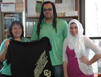 From left, CU Succeed lecturer Paula Gallegos, Associate Director Jason Robinson and Program Coordinator Fatimah Ben-Masaud