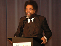 Cornel West delivers the keynote speech at the Art of Social Justice conference