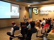 Harvard Professor Daniel Gilbert talks about the science of happiness at CU Denver