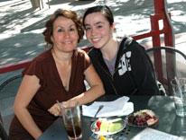 CU Denver senior Vanessa Avitia, right, enjoys Senior Sendoff with her mom, Rose Avitia