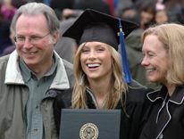 CU Denver graduate Abbie Sietsema poses with her family members after graduation on Saturday
