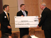 Jeff Macco and Rob Carpenter receive first prize in the Bard Center for Entrepreneurship competition