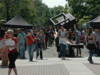 Students check out the Involvement Fair