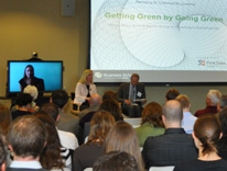 'Getting Green by Going Green' in the Lawrence Street Center, Terrace Room