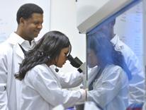 Andrew Winn, M.D. and medical student
