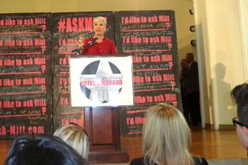 Planned Parenthood President Cecile Richards talks at a Planned Parenthood rally at St. Cajetans Oct. 2.