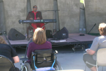 Henry Butler performs in Tivoli Commons
