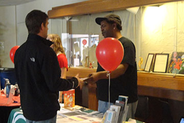 Students get information at World AIDS Day