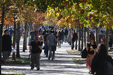 Students on the Auraria Campus