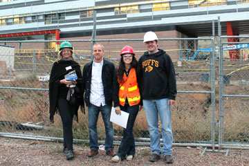 CU Denver students in Design-Build club tour a construction site in Denver