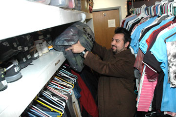Danny Felipe-Morales delivers blankets and coats to the Denver Rescue Mission