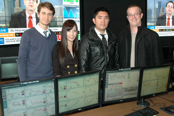 An Undergraduate team from the CU Denver Business School competes in Trading Challenge