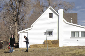 Two CU Denver students conduct research at homestead as part of historic landscape project
