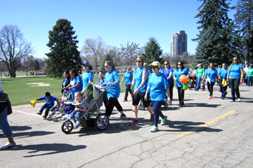 A large group of walkers from the Anschutz Medical Campus participated in the March for Babies