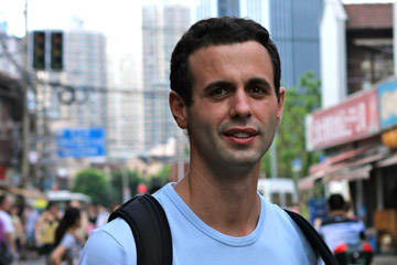 Milen Milev, College of Architecture and Planning student who is an intern at Gensler in Shanghai
