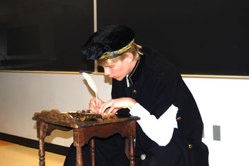 A student participates in National History Day in Colorado program May 4.