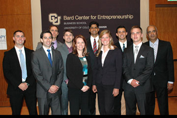 Finalists in the Business Plan Competition through the Bard Center for Entrepreneurship