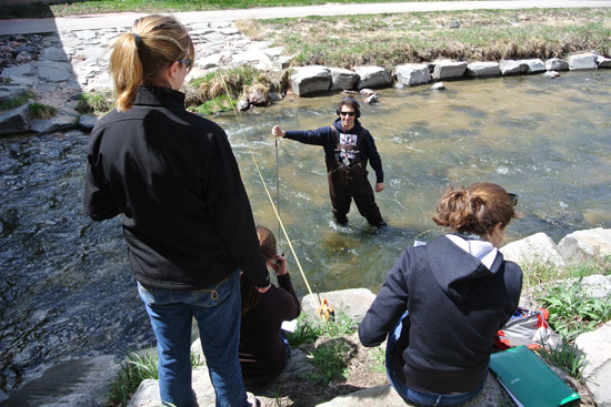 Studying hydrology on Cherry Creek