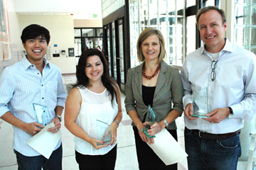 Winners of the campus-wide awards at the 2013 Faculty Excellence Awards at CU Denver