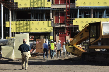 Students Tour the New Academic Building Construction Site