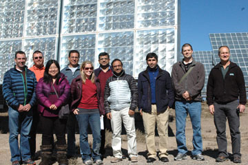 Global Energy Management students from CU Denver tour Alamosa Solar Generating Project