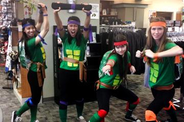 Teenaged Mutant Ninja Turtles take vs. Anschutz Bookstore