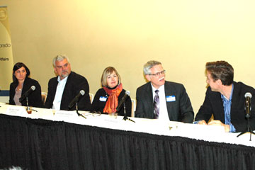 Panel of education and political officials talk about next steps for school reform in discussion at CU Denver