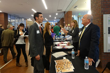 Hundreds of students attended the Career Fair hosted by the CU Denver Business School