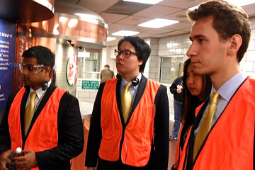 CU Denver students competing in the CFA Challenge tour the Molson Coors facility in Golden