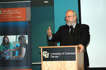 Lloyd Lewan talks about daring to be a great leader at the CU Denver Business School