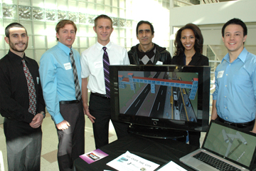 Engineering students display tramway system that could transport people at Anschutz Medical Campus