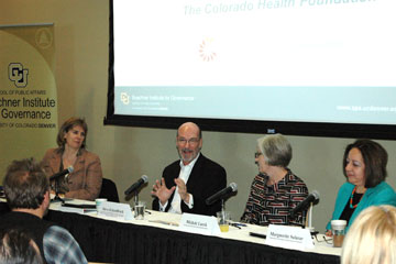 Panelists discuss health care reform at Buechner Breakfast at CU Denver