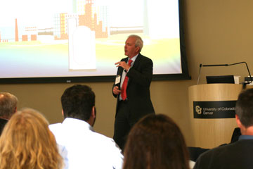 Xcel Energy CEO Ben Fowke delivers an energy outlook at CU Denver