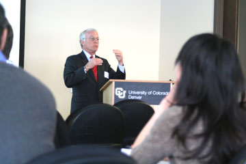 PIMCO executive Robert Greer speaks at CU Denver J.P. Morgan Center for Commodities speaker series