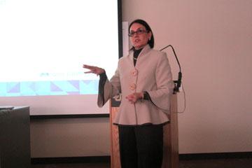 Barbara Bufkin talks to the RMI Advisory Council at CU Denver Business School