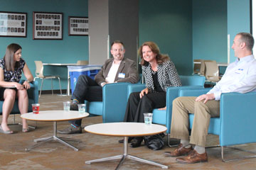 MBA graduates of the CU Denver Business School share stories about careers with students