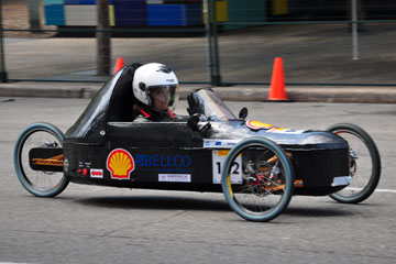 CU Denver Mechanical Engineering student drives in the Shell Eco-marathon