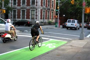 Bicyclist in Denver