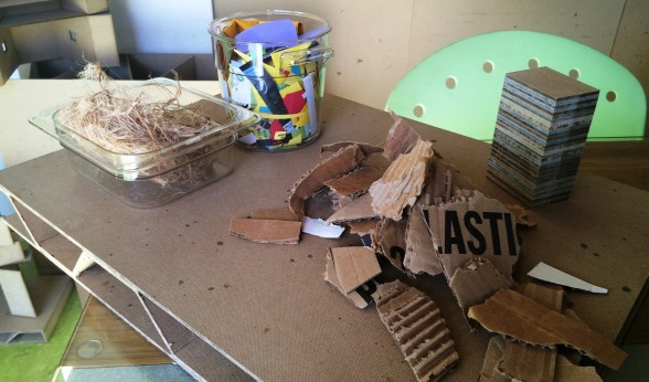 Recycled materials used to create BioSIPs.
