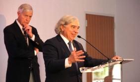 U.S. Secretary of Energy Ernest Moniz talks at CU Denver