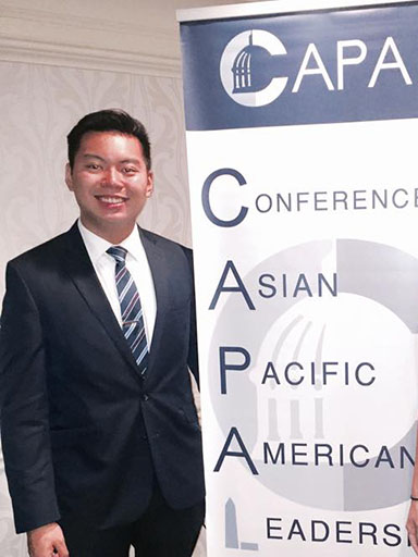 Johnnie Nguyen at the Conference on Asian Pacific American Leadership