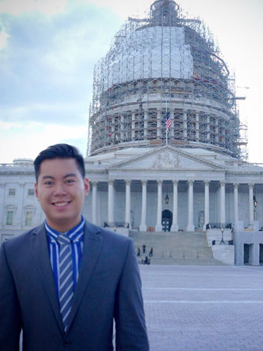 Johnnie Nguyen at the Capitol in Washington, DC