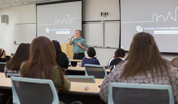 CU Denver instructor Darryl Mehring