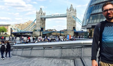 CU Denver student Josh Brandner in London