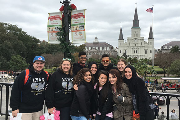 CU Denver students near Jackson Square in the french Quarter