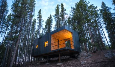 One of 21 cabins at Colorado Outward Bound School